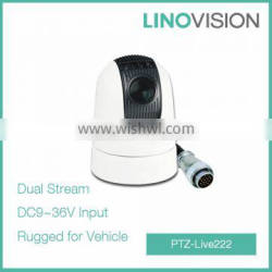 Night Vision Security Police Vehicle Mounted Rugged PTZ Camera With IR