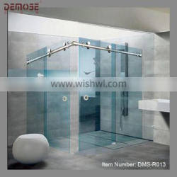 2013 new design frameless simple shower door plastic shower enclosure