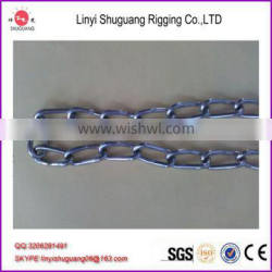 Hot dip galvanized twisted silver link chain