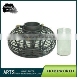 Black Elegant Antique Collectible Outdoor Candle Lantern
