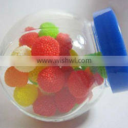 glass candy jars with colorful acrylic lids, mini mason jars manufacturer