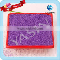 Colorful Cake Decoration in Green of Sanding Sugar