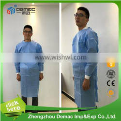 OEM Non-woven Medical disposable nonwoven fabric surgical gown for operation