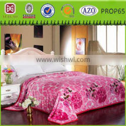 Beautiful with roses printing fashinable blanket