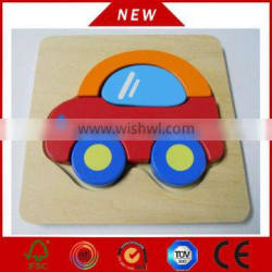 most hot selling kid car shape puzzle, DIY wooden puzzle, educational wooden puzzle