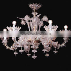Modern murano glass arm chandelier for home