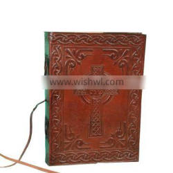 Celtic Theme Embossed Leather Journal For Use Personal Diary