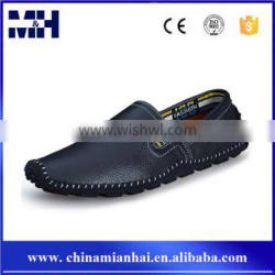 Hot Sales New Trend Round Toe Genuine Leather Driving Loafer Men Fancy Shoes