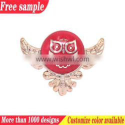 Bird design plastic shoe decoration buckle flower accessories