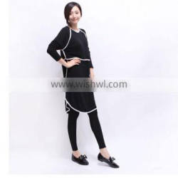 W40049K 2016 long sleeve plus size loos comfortable maternity dress for women