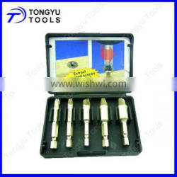 5pcs Broken Bolt and Demaged Screw Extractor Kit