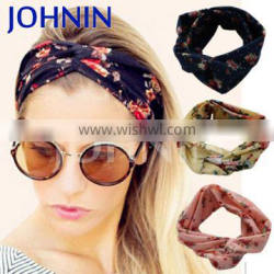 Fashion print high quality extensions braided Johnin hair headband