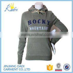 Lady Fashion Printing and Embroidery Hoody