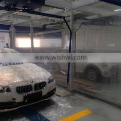 Semi- automatic car wash systems with dryer