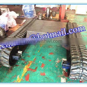 5 ton rubber crawler undercarriage (rubber track chassis)
