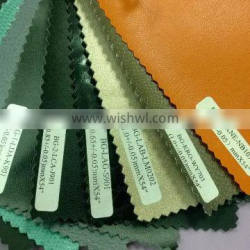 Knitted backing technics pvc leather for car seat