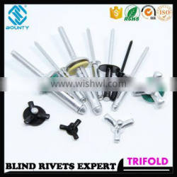 HIGH QUALITY FACTORY ALUMINUM TRI-FOLD BLIND RIVETS FOR GLASS CURTAIN WALL