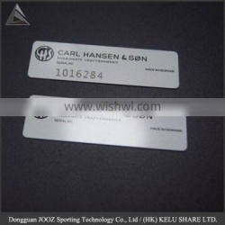 Silver Finish Solid Copper Nameplate Personalized Custom Laser Engraved Label/name plate /metal plate .
