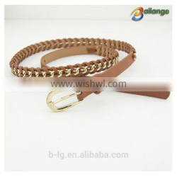 Wholesale fancy metal chain wide belts fancy belts female belt waist belt for dress