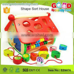 10 Hole Baby Wooden House Toys for Shape Sorter and Maths Learning Quality Choice