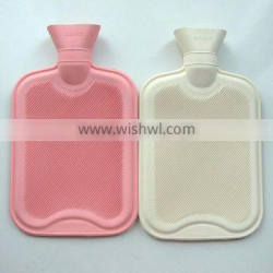 BS white and pink natural rubber hot water bottle 2000ml