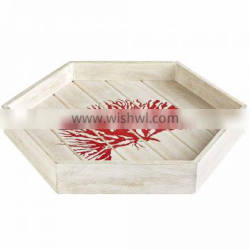 High quality best selling Coral Reef Hexagonal wood tray table