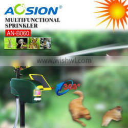 Aosion garden use solar motion activated sprinkler animal repeller