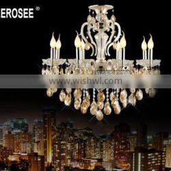 Silver Crystal Chandelier Luster Light Amber Crystal Chandelier Light Fixture