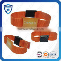 HF RFID nylon wristband access control with different chip