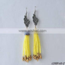 Lovely Beaded tassel seed bead earrings made of glass seed beads earring