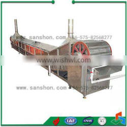 continuous frying and blanching machine