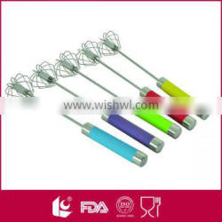 Wholesale ultra durable kitchen stainless steel hand push whisk