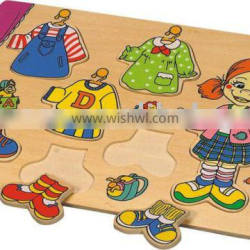 Dressing Puzzle,wooden puzzle