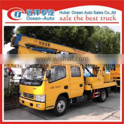 Double cab 14-16m telescopic high-altitude working truck
