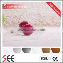 wholesale 1.56 5 seconds PGX Round-Top power plano polarized ophthalmic lenses