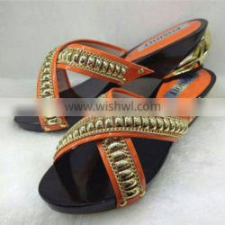 latest ladies slippers shoes and sandals(MD087)