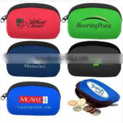 High quality neoprene coin wallet