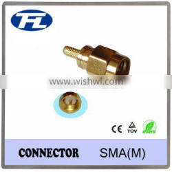 (China supplier) RF coaxial sma connector for RG174 RG178 RG58 cable