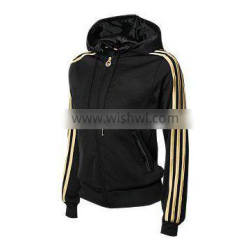 Black Color and Yellow Strap Women Hoodies