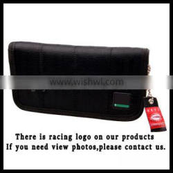 Racing serging wallet with bride fabric JDM for drift drag race school gift JDM Racing Wallet Long Black