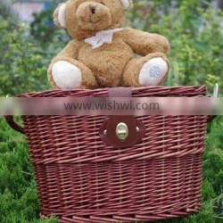 Wicker bicycle basket wicker bicycle front basket