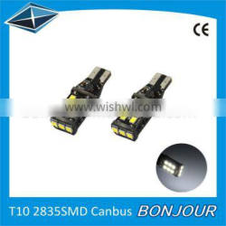 Super bright Canbus 2835 smd 15 pcs t10 w5w 194 car accessories led lighting bulb