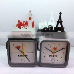 Silicon alarm clock with london city on top unique wholesale gifts