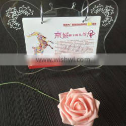 wholesale clear acrylic desk calendar in different shapes tabletop acrylic calendar stand