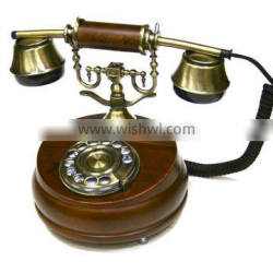Brown telephone directories rotary dial telephone