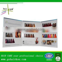 2016 Hot Sales Hair Dye Products Durable Refrence Coloring Design Book,Hair Color Chart With ISO For Salon Use