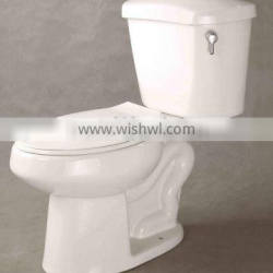 ADA Elongated Two Piece Toilet, Ceramic Toilet