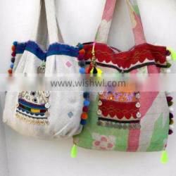 Cotton Multi Colored Kantha Vintage Hand Bags