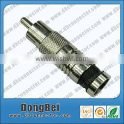 rg59 rg6 F compression male rca connector