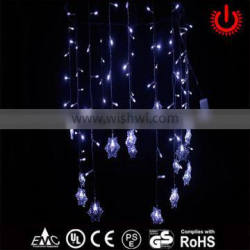 crystal snowflake white decorative icicle lights
